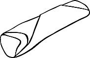 Ausmalbild Malvorlage Teigtasche / Wrap