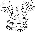 Ausmalbild Malvorlage Torte
