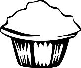 Ausmalbild Malvorlage Muffin