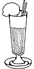 Ausmalbild Malvorlage Cocktail