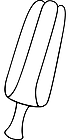 Ausmalbild Malvorlage Eis am Stiel