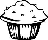 Ausmalbild Malvorlage Cupcake