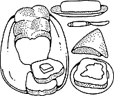 Ausmalbild Malvorlage Frühstück