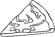 Ausmalbild Malvorlage Pizza