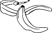 Ausmalbild Malvorlage Bananenschale