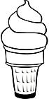 Ausmalbild Malvorlage Eistüte