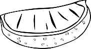 Ausmalbild Malvorlage Melone
