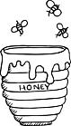 Ausmalbild Malvorlage Honigtopf Bienen