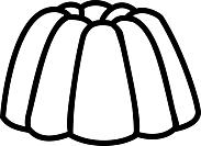 Ausmalbild Malvorlage Pudding