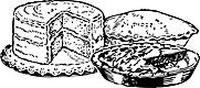 Ausmalbild Malvorlage Kuchen