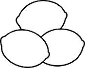 Ausmalbild Malvorlage Zitronen