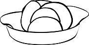 Ausmalbild Malvorlage Salatschüssel
