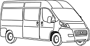 Ausmalbild Malvorlage Transporter