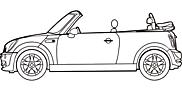 Ausmalbild Malvorlage Cabrio
