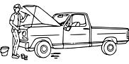 Ausmalbild Malvorlage Auto reparieren