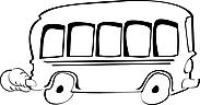 Ausmalbild Malvorlage Bus