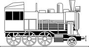 Ausmalbild Malvorlage Eisenbahn Lokomotive