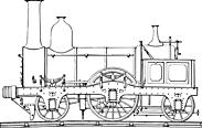 Ausmalbild Malvorlage Dampflok