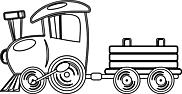 Ausmalbild Malvorlage Zug