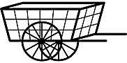 Ausmalbild Malvorlage Wagen / Schubkarre