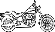 Ausmalbild Malvorlage Motorrad