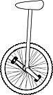 Ausmalbild Malvorlage Einrad
