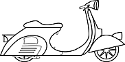 Ausmalbild Malvorlage Vespa Roller