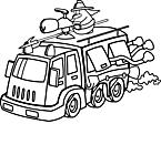 Ausmalbild Malvorlage Feuerwehrauto