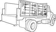 Ausmalbild Malvorlage LKW / Lastwagen / Truck