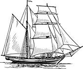 Ausmalbild Malvorlage Schiff