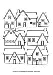 Ausmalbild Malvorlage Häuser