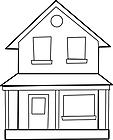 Ausmalbild Malvorlage Haus