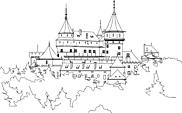 Ausmalbild Malvorlage Schloss