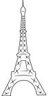 Ausmalbild Malvorlage Eifelturm Paris