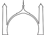 Ausmalbild Malvorlage Moschee