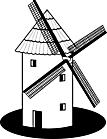Ausmalbild Malvorlage Windmühle
