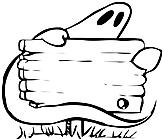 Ausmalbild Malvorlage Geist mit Schild