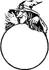 Ausmalbild Malvorlage Hexe mit Kristallkugel