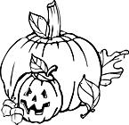 Ausmalbild Malvorlage Halloween Kürbis