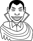 Ausmalbild Malvorlage Vampir