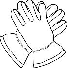Ausmalbild Malvorlage Handschuhe