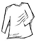 Ausmalbild Malvorlage Pullover