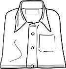 Ausmalbild Malvorlage Hemd