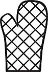 Ausmalbild Malvorlage Handschuh