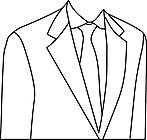 Ausmalbild Malvorlage Hemd mit Krawatte