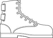 Ausmalbild Malvorlage Schuh