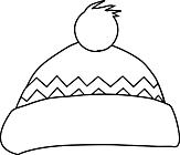 Ausmalbild Malvorlage Pudelmütze