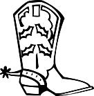 Ausmalbild Malvorlage Stiefel
