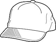 Ausmalbild Malvorlage Mütze / Cap