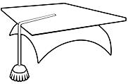 Ausmalbild Malvorlage Hut